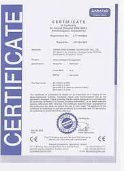 CE certificate for Bonwin Hotel Room Intelligent Control
