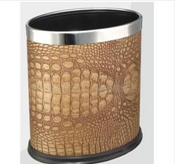 LZH-FF022不锈钢单层椭圆垃圾桶