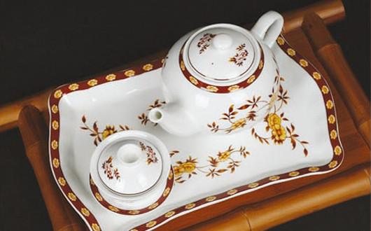 彩瓷-古典茶具