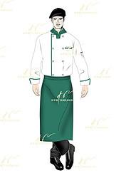 连锁餐饮工作服-明档厨师