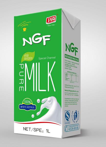 新绿园全脂灭菌纯牛奶