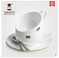泰摩 骨瓷咖啡杯套装 典雅简约咖啡器具 欧式下午茶杯子 配咖啡勺