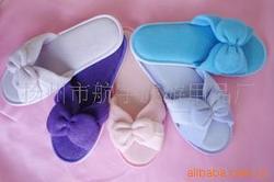 EVA毛巾蝴蝶结拖鞋