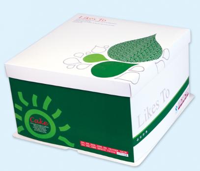 绿色经典蛋糕盒
