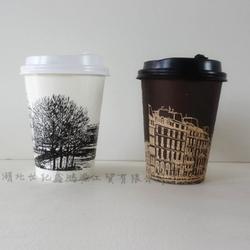 厂家专业供应16A素描奶茶杯咖啡果汁冷热饮一次性纸杯