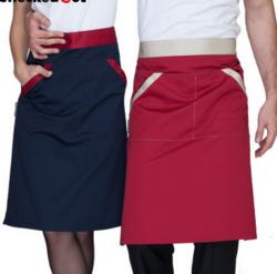 围裙半身短款围腰男女酒店餐厅厨房厨师