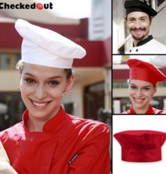 厨师帽咖啡厅西餐厅服务员工作帽