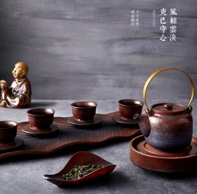 玉泉窖系列 守心粗陶日式复古茶具