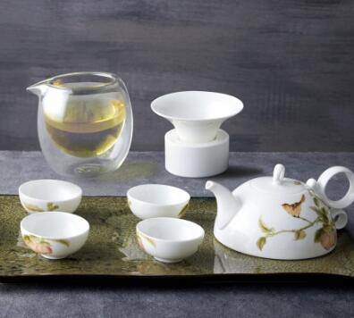 玉泉窖系列 吉庆花鸟骨瓷茶具