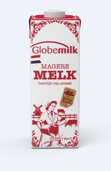 荷高脱脂纯牛奶1L