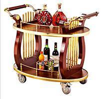 竖琴钢木酒水车