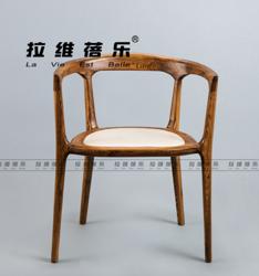 休闲实木水曲柳椅子