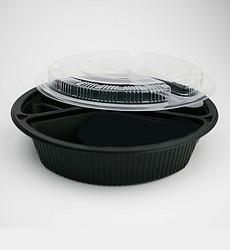黑色圆形餐盒
