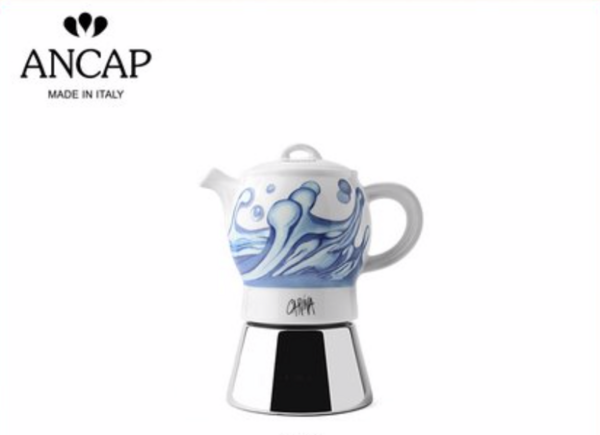ANCAP海洋系列 Preziosa陶瓷摩卡咖啡壶小号
