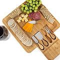 厂家直销创意厨房用具砧板摆放套装 竹制工艺品奶酪芝士刀具套装