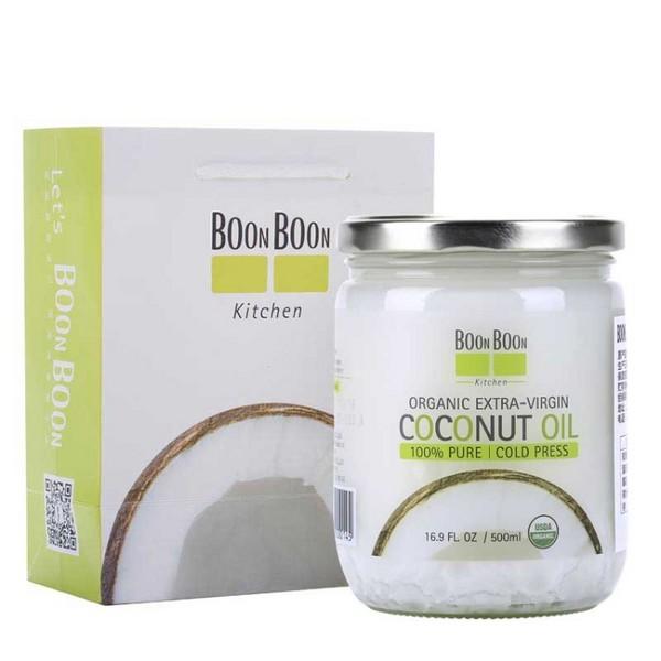 BOONBOON冷榨椰子油500ml