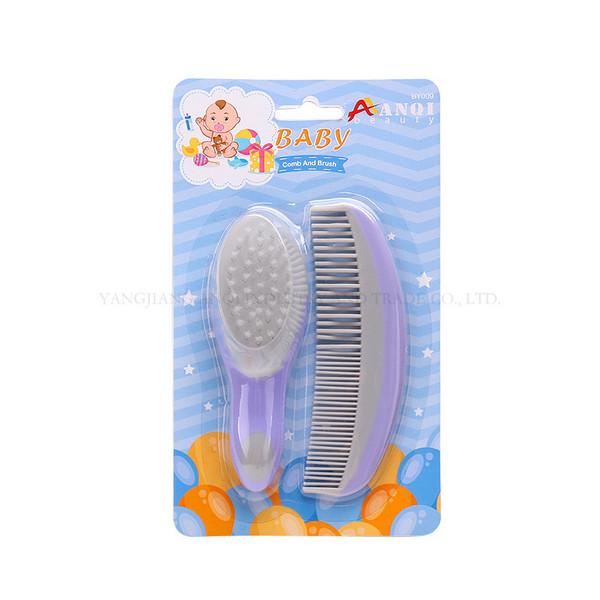 Comb and brush 婴儿美容按摩刷梳2套装