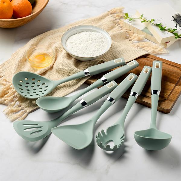 硅胶厨具不粘锅炒菜铲子汤勺捞篱粉抓家用厨具厨房7件套