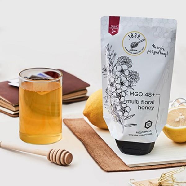 1839原装进口新西兰多花种蜂蜜MGO48+含麦卢卡花蜂蜜便携软管包装