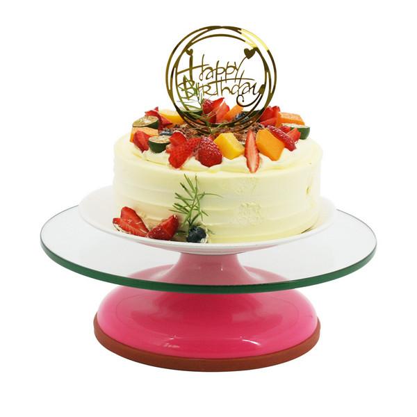 GLASS CAKE STAND 钢化玻璃面蛋糕转台P13406,P13408