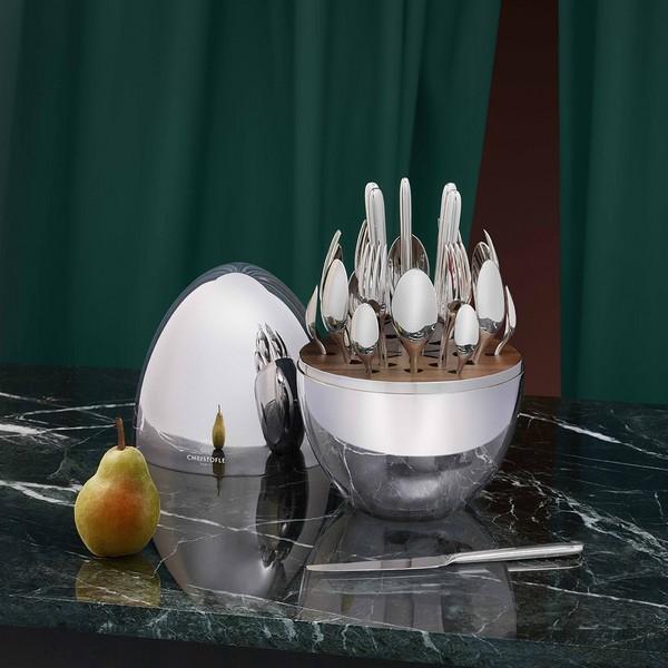 MOOD 心境蛋餐具套装银色版