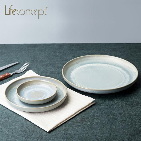 life concept陶瓷餐盘