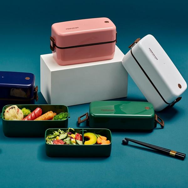 双层日式便当盒餐盒700ml