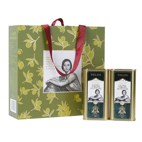 集雅特级初榨橄榄油铁罐1L礼盒