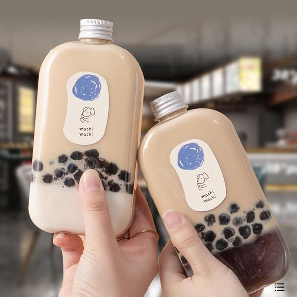 麦吉瓶饮料瓶500ml麦吉奶茶瓶周杰伦同款创意PT方扁瓶