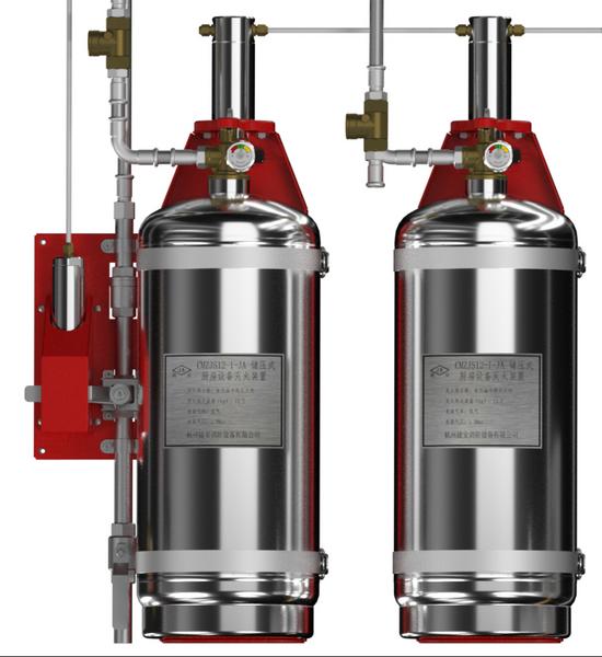 CMZJS24-2-JA 型厨房设备灭火装置双瓶组系统(储压式)