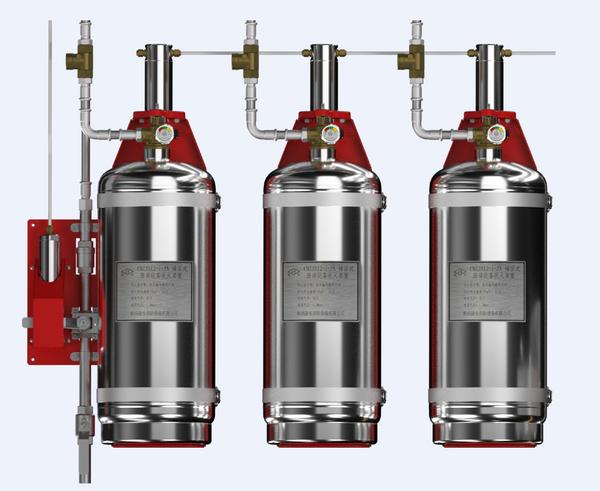 CMZJS34-3-JA 型厨房设备灭火装置双瓶组系统(储压式)