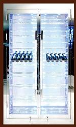 不锈钢 展示式红酒柜