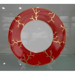 红珊瑚餐盘-骨瓷