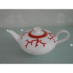 红珊瑚茶壶-骨瓷